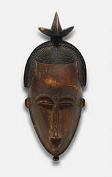 Portrait Face Mask (Mblo) with Bird