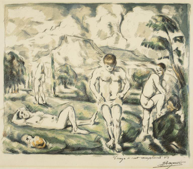 Les baigneurs, grande planche (The Bathers, large plate)