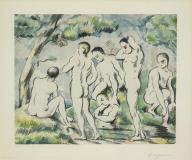 Les baigneurs, petite planche (The Bathers, small plate)
