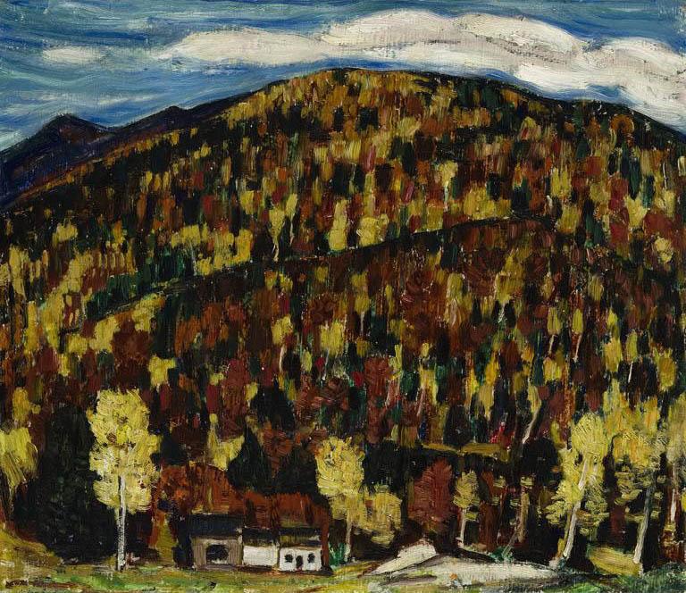 Maine Landscape, Autumn No. 13 (recto); Untitled (verso)